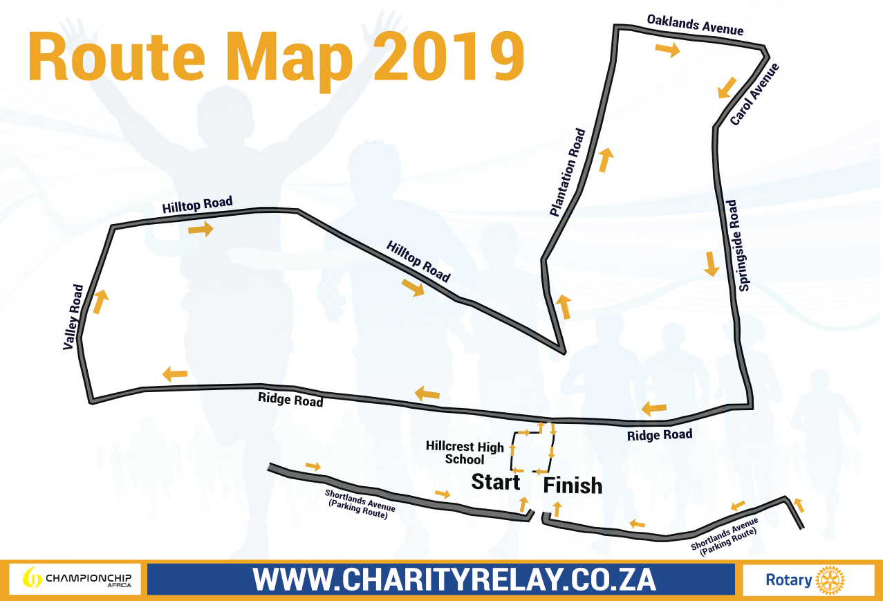 Charity Challenge Relay Route Map